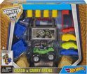 Hot Wheels Monster Jam Crash en Carry Arena