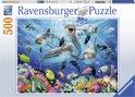 Ravensburger Dolfijnen in het koraalrif - Puzzel van 500 stukjes