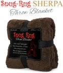 Snug-Rug Throw Blanket - Chocolate