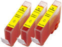 Canon CLI 521 Y inktcartridge geel 11 ml 3 stuks Cartridge