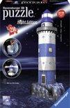 Ravensburger Vuurtoren Night Edition - 3D Puzzel gebouw van 216 stukjes