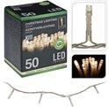 Kerstverlichting 50 led-lampjes warm wit