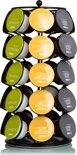 KitchenBrothers Capsule Houder Voor Dolce Gusto Cups - Koffie Houder en Standaard - 360º Draaibaar - 35 Capsules - Zwart