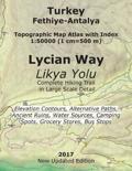 Turkey Fethiye-Antalya Topographic Map Atlas with Index 1