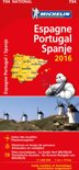 Espagne Portugal Spanje 11734 carte 'national' 2016 michelin kaart