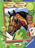 Ravensburger schilderen op nummer Paard bij een concours