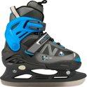 Nijdam 3141 Junior IJshockeyschaats - Verstelbaar - Semi-Softboot - Antraciet/Blauw - Maat 38-41