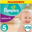 Pampers Active Fit - Maat 5 Maandbox - 136 Luiers