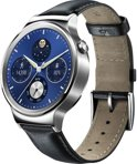 Huawei Watch Classic W1 - silver - with black leather band