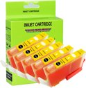 5 Pack Compatible Canon CLI-521 Y*5 inktcartridges, 5 pak. 5 geel,