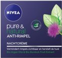NIVEA Pure & Natural Anti-Rimpel Nachtcrème - 50 ml