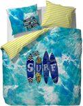 Covers & Co Surf - dekbedovertrek - lits jumeaux - 240 x 220 - Blauw
