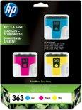 HP 363 - Inktcartridge / Cyaan / Geel / Magenta / 3-pack (CB333EE)