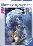 Ravensburger Vrouw met wolven - Puzzel van 1000 stukjes
