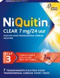 NiQuitin Clear Pleisters 7 mg - Stoppen met roken - 7 stuks