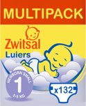 Zwitsal Luiers - Maat 1 (Newborn Small) - 2-5 kg - 132 stuks - Maandbox