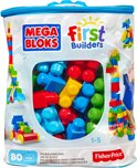 Mega Bloks First Builders 80 Maxi blokken met tas - Constructiespeelgoed