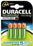 Duracell AA Oplaadbare Batterijen - 4 stuks - 2400 mAh