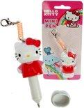 2 Hello Kitty sleutelhangers met balpen