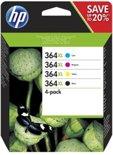 HP 364XL - Inktcartridge / Cyaan / Magenta / Geel / Zwart / Blister (N9J74AE)