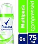 Rexona Fresh Aloe Vera Women - 6 x 75 ml - Deodorant Spray - Voordeelverpakking