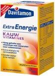 Davitamon Kauwvitamines Extra Energie - Multivruchten - 30 Kauwtabletten - Multivitamine