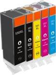 Merkloos - Inktcartridge / Alternatief voor de Canon PGI-550/CLI-551XL / Zwart / Geel / Magenta / Cyaan / Hoge Capaciteit