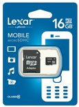Lexar Mobile micro SD kaart 16GB met SD adapter