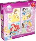 Jumbo Disney Princess 4 in 1 - Puzzel - 16 stukjes