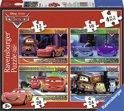 Ravensburger Disney Cars 2 Vier puzzels (12+16+20+24 stukjes)