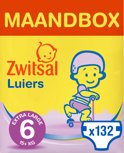 Zwitsal luiers - Maat 6 (Extra Large) 15+ kg - 132 stuks - Maandbox