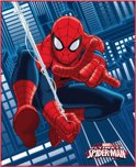 Spider-Man Jump - Plaid - 110 x 140 cm - Blauw