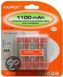 Vapex Oplaadbare AAA Batterijen - 1100 mAh - 4 stuks