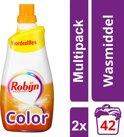 Robijn Color Klein & Krachtig - 84 wasbeurten - 2 x 1,47 lt - Wasmiddel - Voordeelverpakking