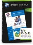 HP 933XL - Inktcartridge / Cyaan / Magenta / Geel + Papier (CR711AE)