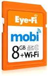 Eye-Fi Mobi 8GB WiFi SD kaart + 90 dagen Gratis Eyefi Cloud