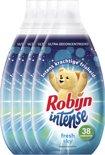 Robijn Intense Fresh Sky Vloeibaar - 228 wasbeurten - 6 x 570 ml - Wasverzachter - Voordeelverpakking