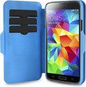 PURO Samsung Galaxy S5 Eco Leather Wallet Case Bi-Color + 3 Cardslot - Blauw/LBlauw