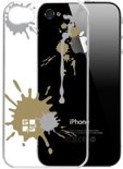 G-Cube Paint Splash Clear Hard Case Gold voor iPhone 4 / 4S