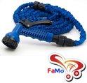 FaMo - Magic Hose flexibele Uitrekbare Tuinslang Xhose incl. luxe sproeikop 22,5m BLAUW - FaMo