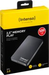 Intenso Memory Play 500GB - Externe harde schijf / Zwart