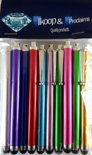Proclaims 5 Luxe stylus pennen mix kleuren Universeel HTC One/iPhone 5S/iPhone 4S/Samsung Galaxy/Xperia Z1/iPad 2,3,4 Air Mini / Galaxy Tab Zilver