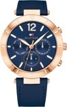 Tommy Hilfiger TH1781881 horloge dames - blauw - edelstaal PVD ros�