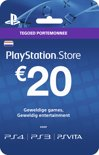 Nederlands Sony PlayStation Network PSN Giftcard Kaart 20 Euro Nederland - PS4 + PS3 + PS Vita + PSN