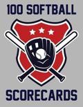 100 Softball Scorecards
