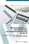 Wirtschaftlichkeitsbetrachtungen Zur Investitionsrechnung in Der It