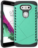 Youngsters LG G5 Back Cover - Rugged Shell serie - Mintblauw hoesje