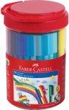 viltstiften Faber Castell Connector emmer met 50 stuks