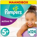 Pampers Active Fit - Maat 5+ Maandbox - 124 luiers