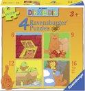 Ravensburger Dikkie Dik - Vier puzzels (6+9 12+16 stukjes)